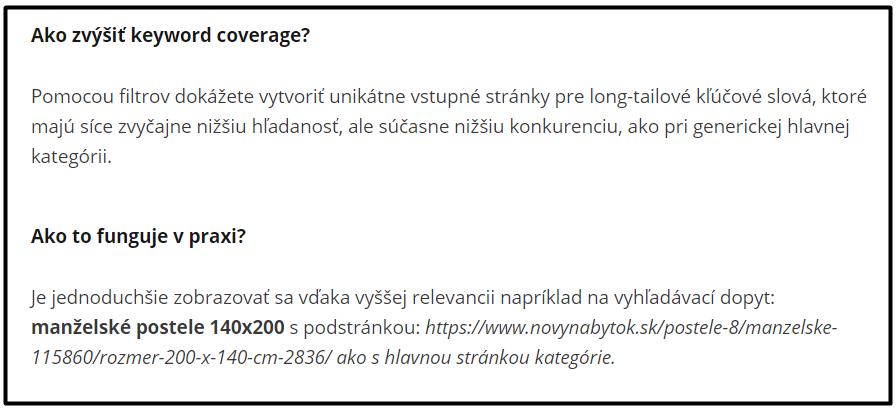 Tip ako zvýšiť keyword coverage